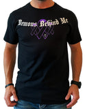 Awareness Ribbon Series - Purple - Unisex Black T-Shirt