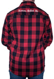 Red & Black Embroidered Flannel 2.0 - White Stitch Cross