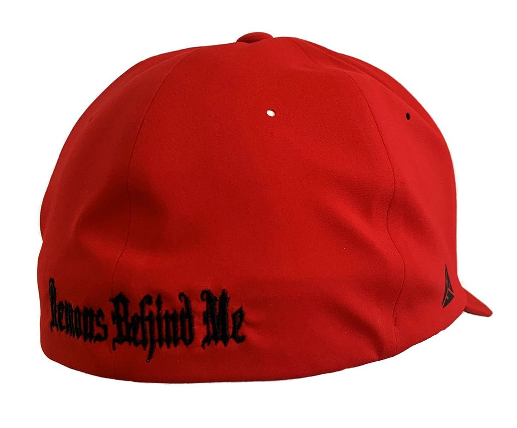 Flexfit Delta Performance Fitted Hat Red - White Stitch Cross