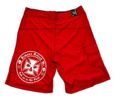 NOW AVAILABLE! Red Embroidered Board Shorts