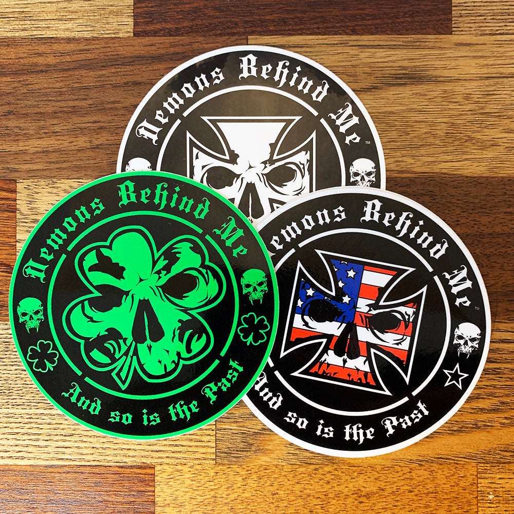 "4"" Circle Sticker - High-Performance UV Vinyl (1) - Clover"