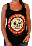 Women's Never Broken Black Tank Top