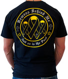 Awareness Ribbon Series - Yellow - Unisex Black T-Shirt