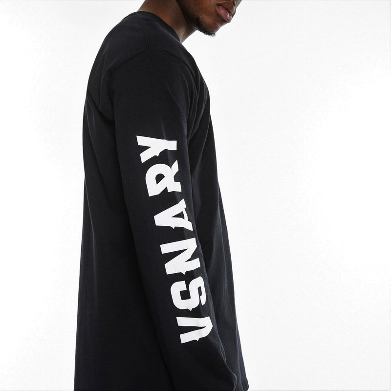 BRAND VISION LONG SLEEVE T-SHIRT - BLACK - T-Shirts