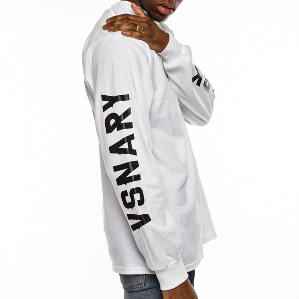 BRAND VISION LONG SLEEVE T-SHIRT - WHITE - T-Shirts
