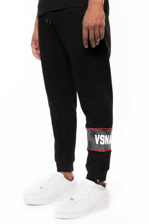 CAMO VISION PANEL SWEATPANTS - BLACK - Sweatpants