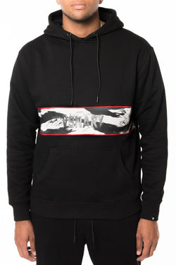 JUNGLE VISION PANEL HOODIE - BLACK - Hoodies