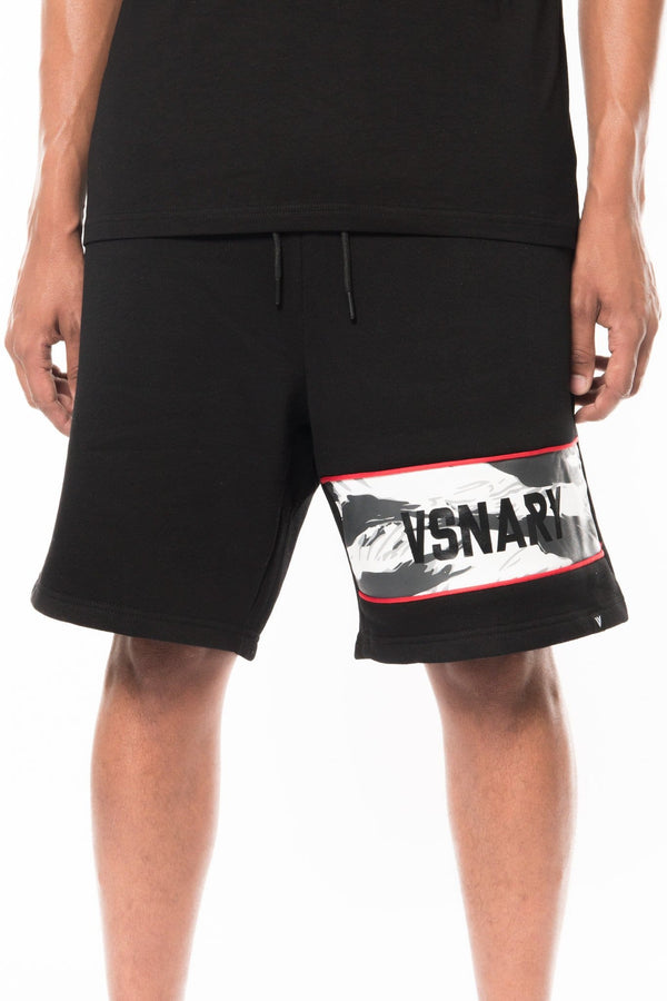 JUNGLE VISION PANEL SHORTS - BLACK - Sweatpants