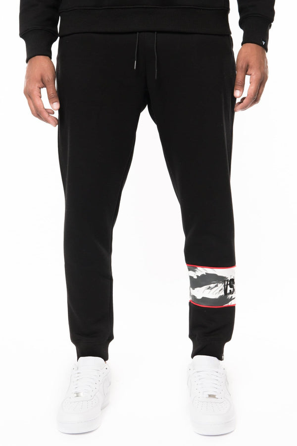 JUNGLE VISION PANEL SWEATPANTS - BLACK - Sweatpants