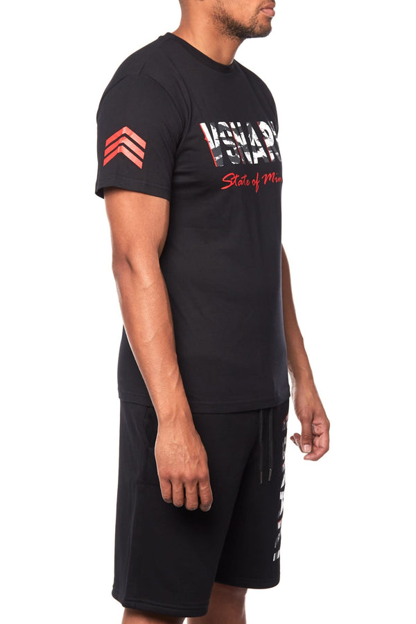 JUNGLE VISION SHORTS SET - BLACK - T-Shirts