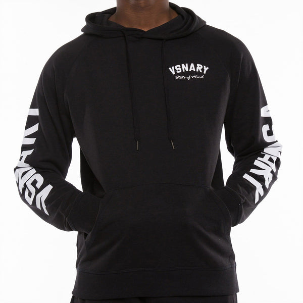 TRACK VISION HOODED SWEATSHIRT - BLACK - Hoodies