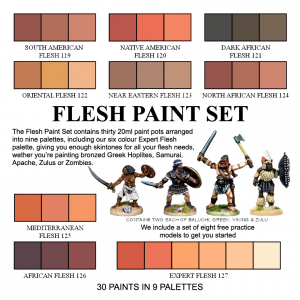 000 - Flesh Paint Set