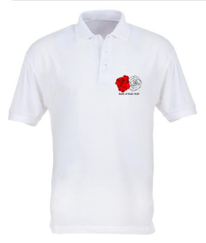Battle of Stoke Field - White Polo Shirt