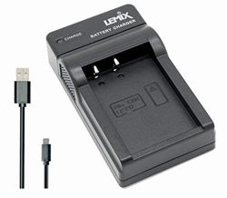 Lemix (LPE17) Ultra Slim USB Charger for Canon LP-E17 Battery for Listed CANON EOS, EOS Rebel & Kiss Models - Lemix