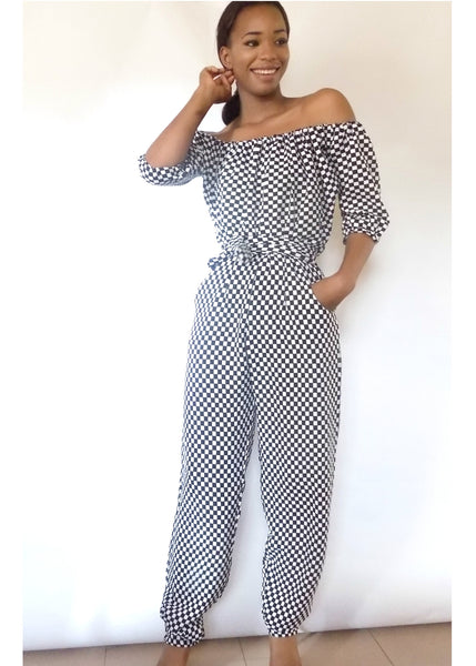 Adey Soile checked Jumpsuit