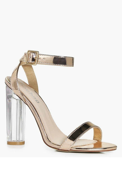 Keke Pro-Gold Vinyls block heel sandals