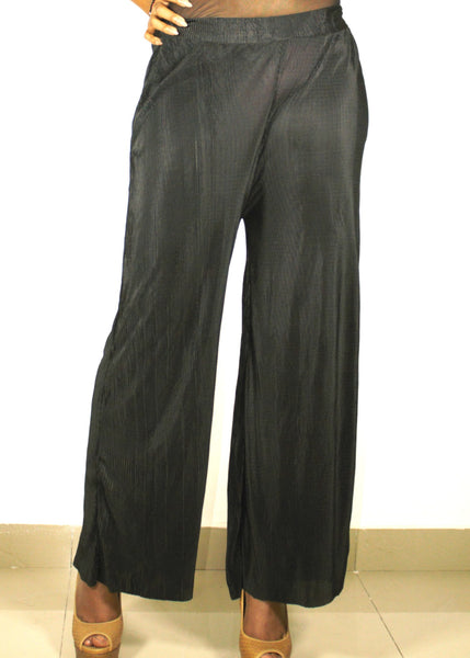 Meriah Baccci WIDE LEG crimple pants