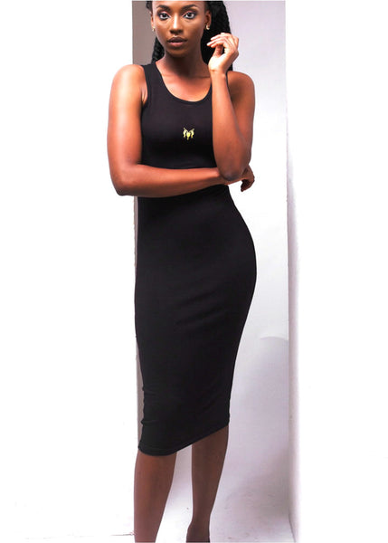 Nack black tank shirt dress