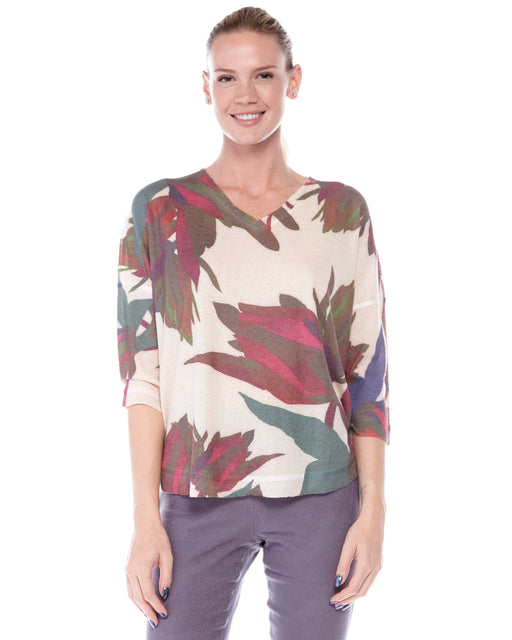 Yasmin Top in Contemporary Blossom Print - Atelier5