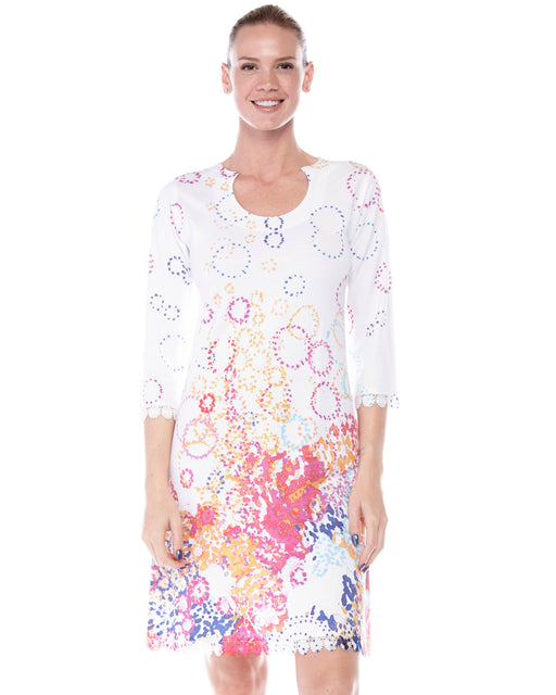 Round Neck dress Springtime Bubbles