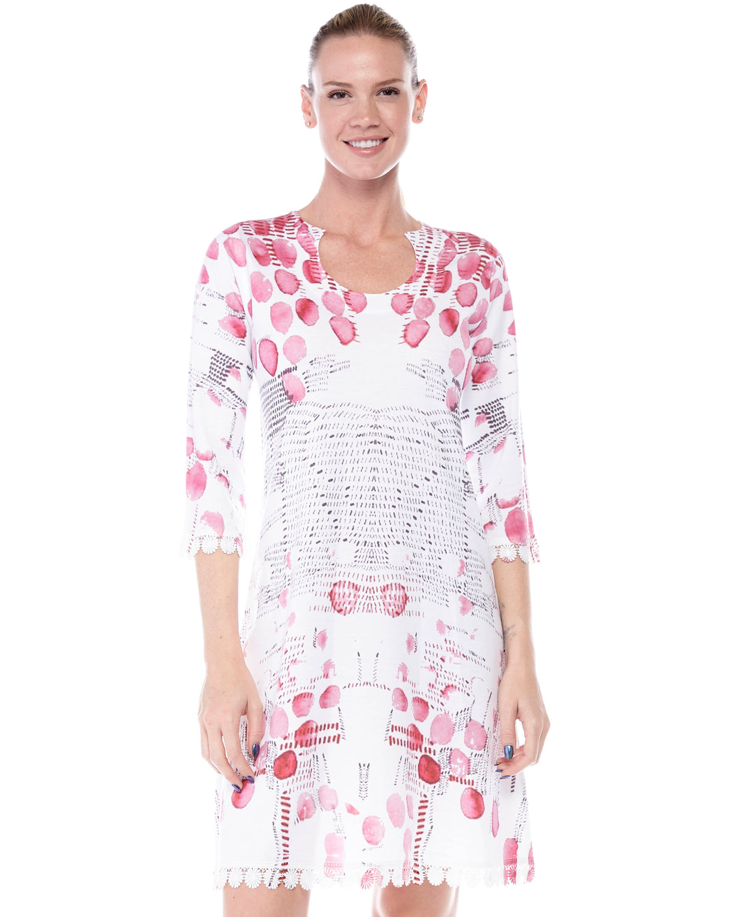 Round Neck dress Rose Petals - Atelier5