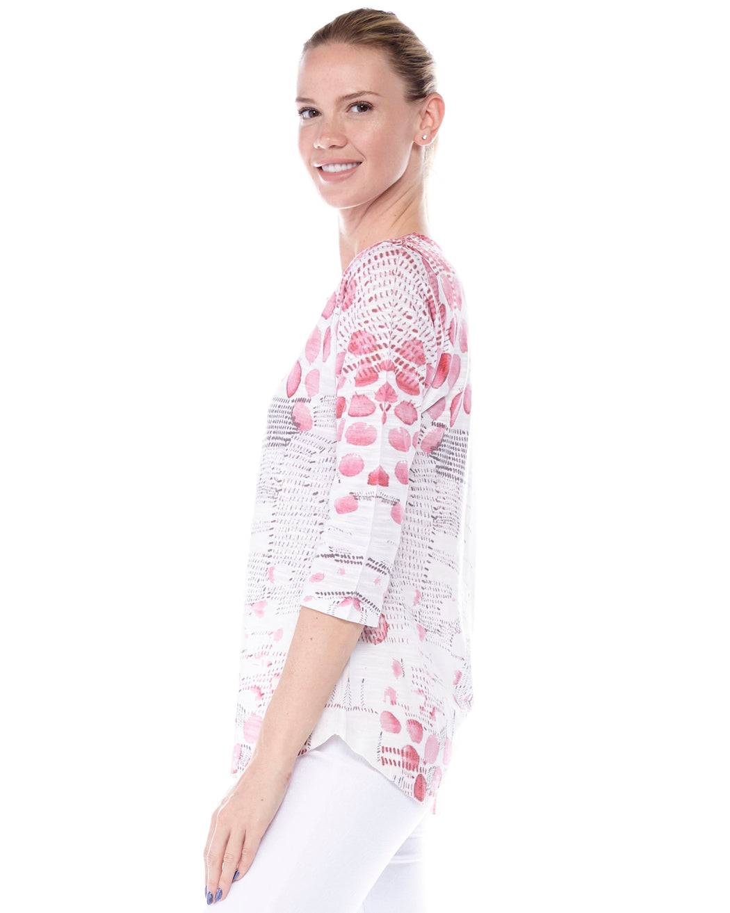 Tunic 2 in Rose Petals Print - Atelier5