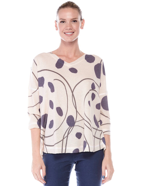 Yasmin Top Point En Cercle Blue
