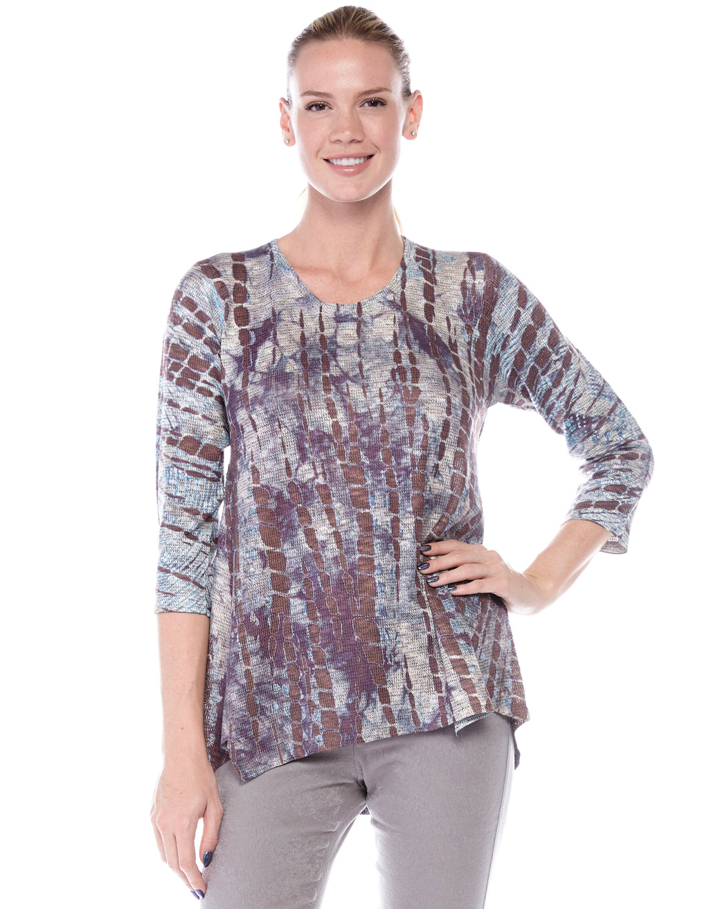 Miray Top in Koi Pond Print - Atelier5