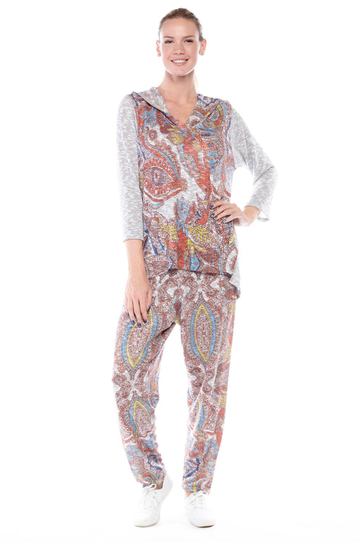 Heather Grey Pants Paisley - Atelier5