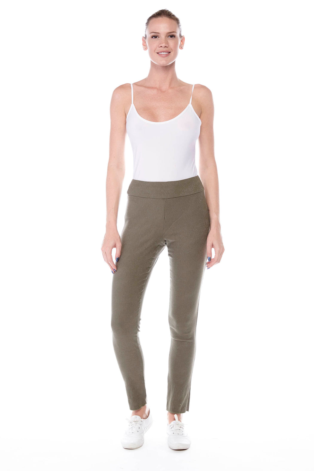 Jacquard Pants in Olive - Atelier5