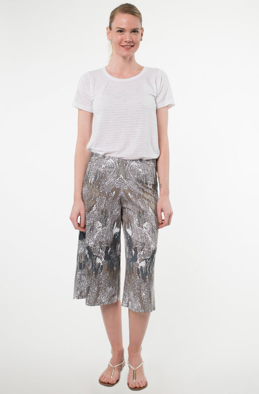 Cropped Wide Leg Pants in Bois Print - Atelier5