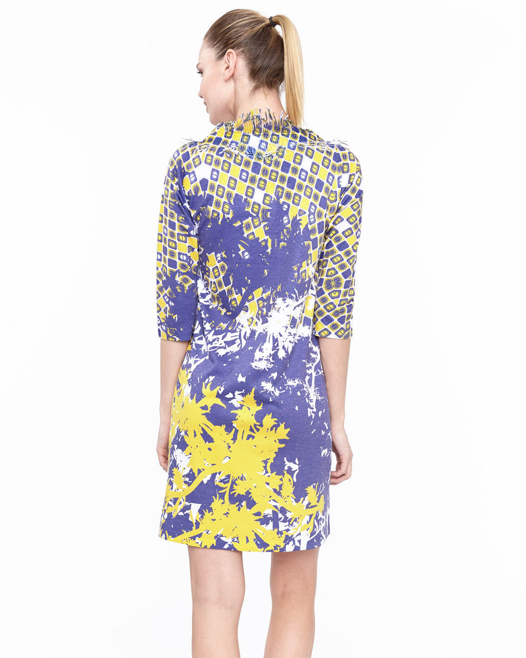 Coral Neck Dress in Avion Print - Atelier5