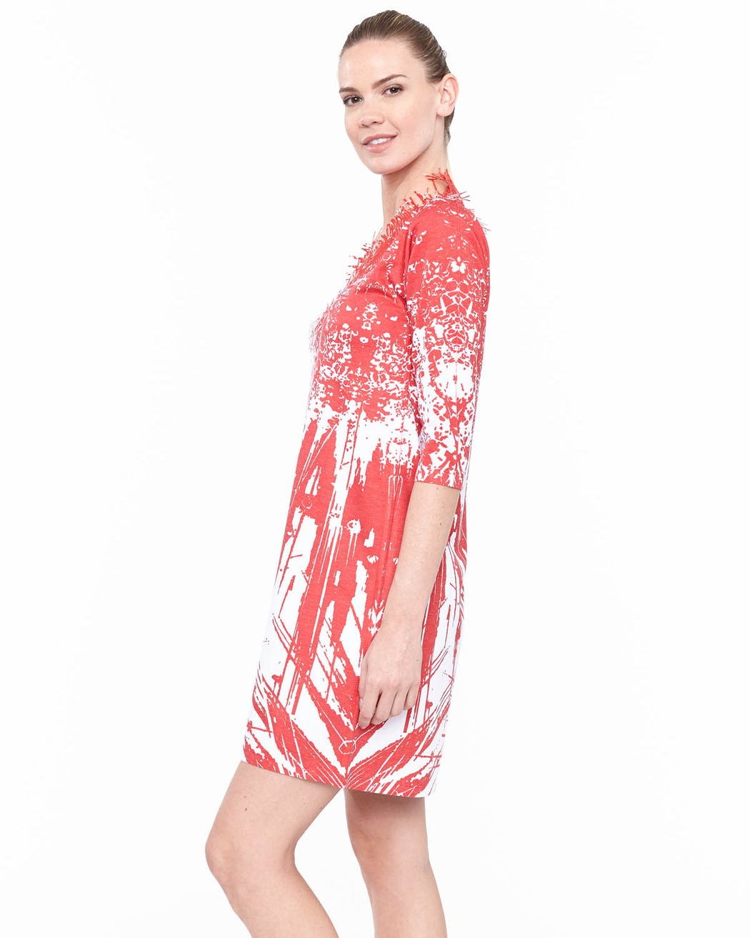 Coral Neck dress Rouge - Atelier5