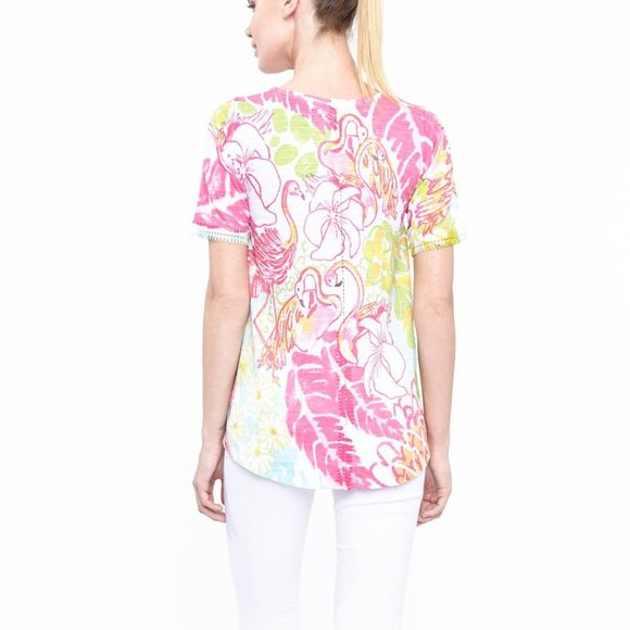 A-line Top in Flamingo Dance Print