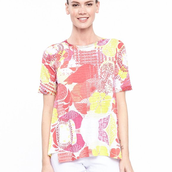 A-line Top in Carnival of Colors Print