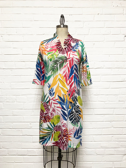 Willow Dress in Festive Foliage Print
