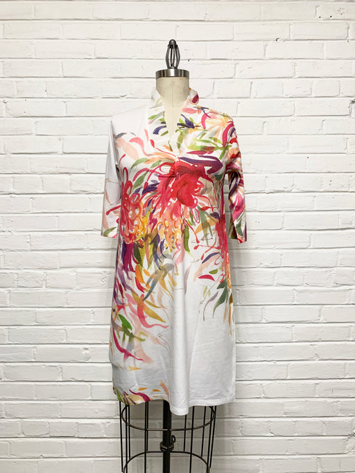Willow Dress in Brushwork Bouquet Print