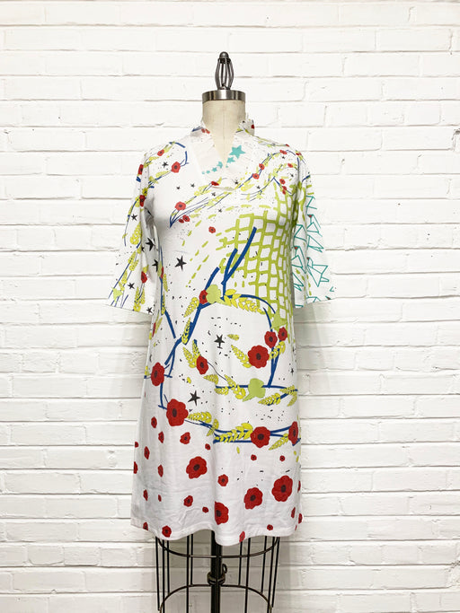 Willow Dress in Poppy Field Print