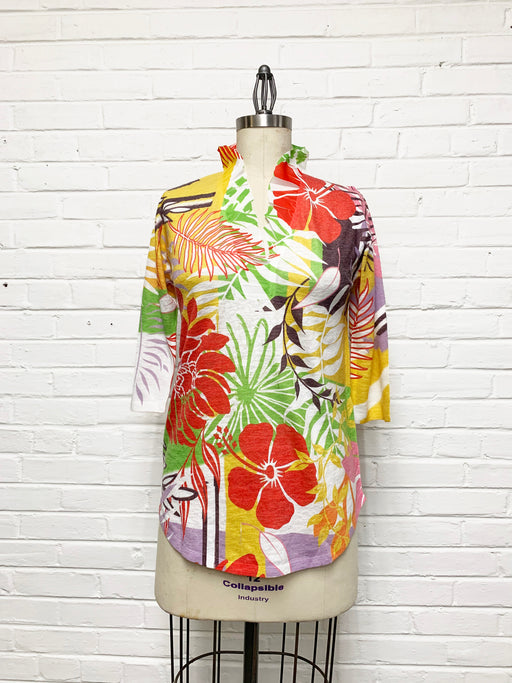 Willow Tunic in Bright and Bold Floral Print
