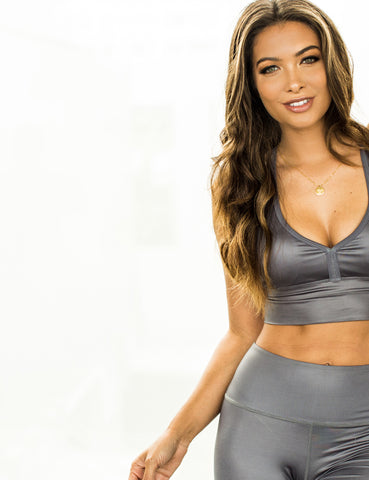 Nubyen Luminance activewear Top (Slate)