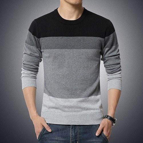 Casual O-Neck Stripped Pullover-Sweaters-REEMYU