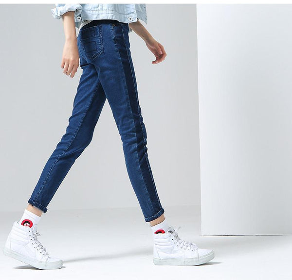 Casual Pencil Pant Cotton Jeans-Jeans-REEMYU