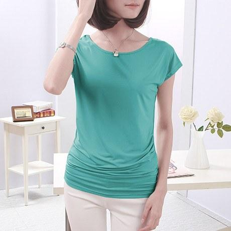 Casual Solid O-Neck Top-Tops-REEMYU