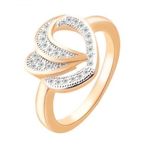 Heart Shaped Eternity Ring-Rings-REEMYU