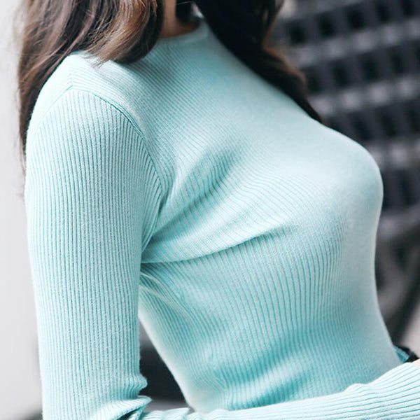 Knitted Long Sleeve Top-Tops-REEMYU