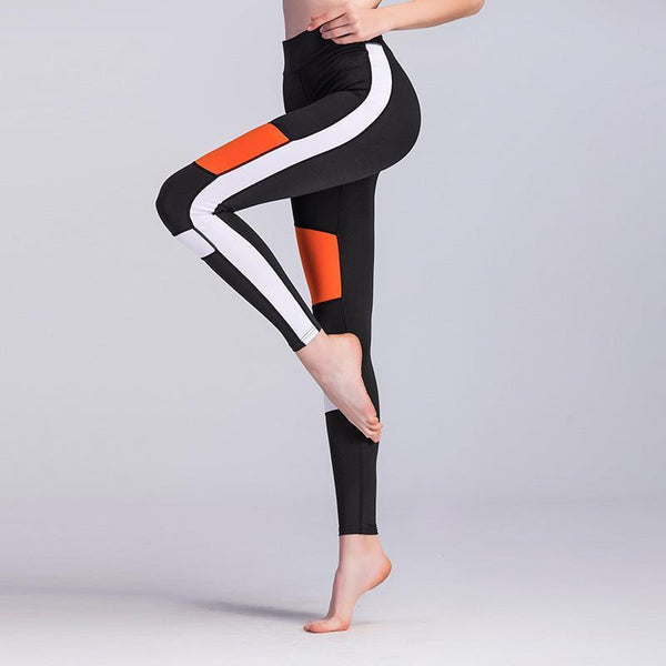 Patchwork Slim Sports Leggings-Leggings-REEMYU