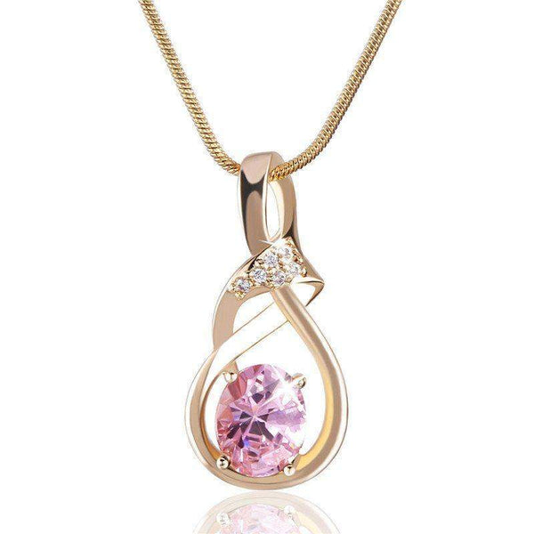 Purple Crystal Wedding Pendant-Pendants-REEMYU