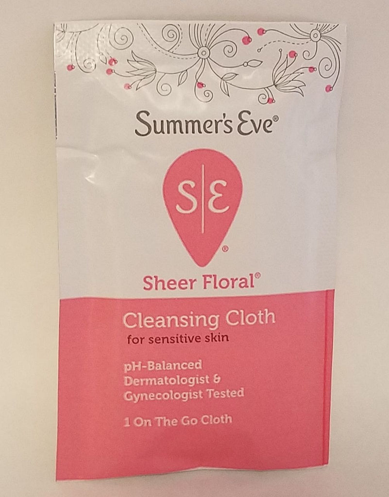 Summer's Eve Sheer Floral Cleansing Cloth