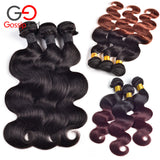 Brazilian Virgin Hair Body Wave 6''-28'' Mink 3 Bundles Ombre