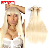7A Quality  613 Blonde Virgin Hair Straight 4 Bundles Brazilian